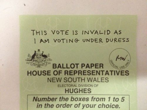 This Vote Is Invalid